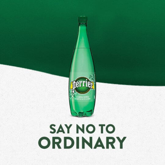 #SayNoToOrdinary avec Perrier