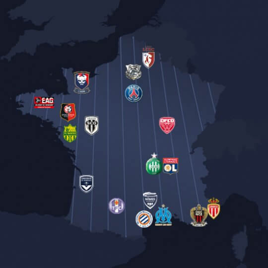 Le mercato de ligue 1 de football en une carte
