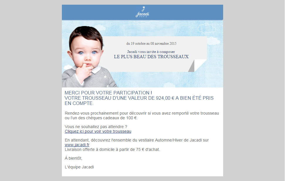 email de validation