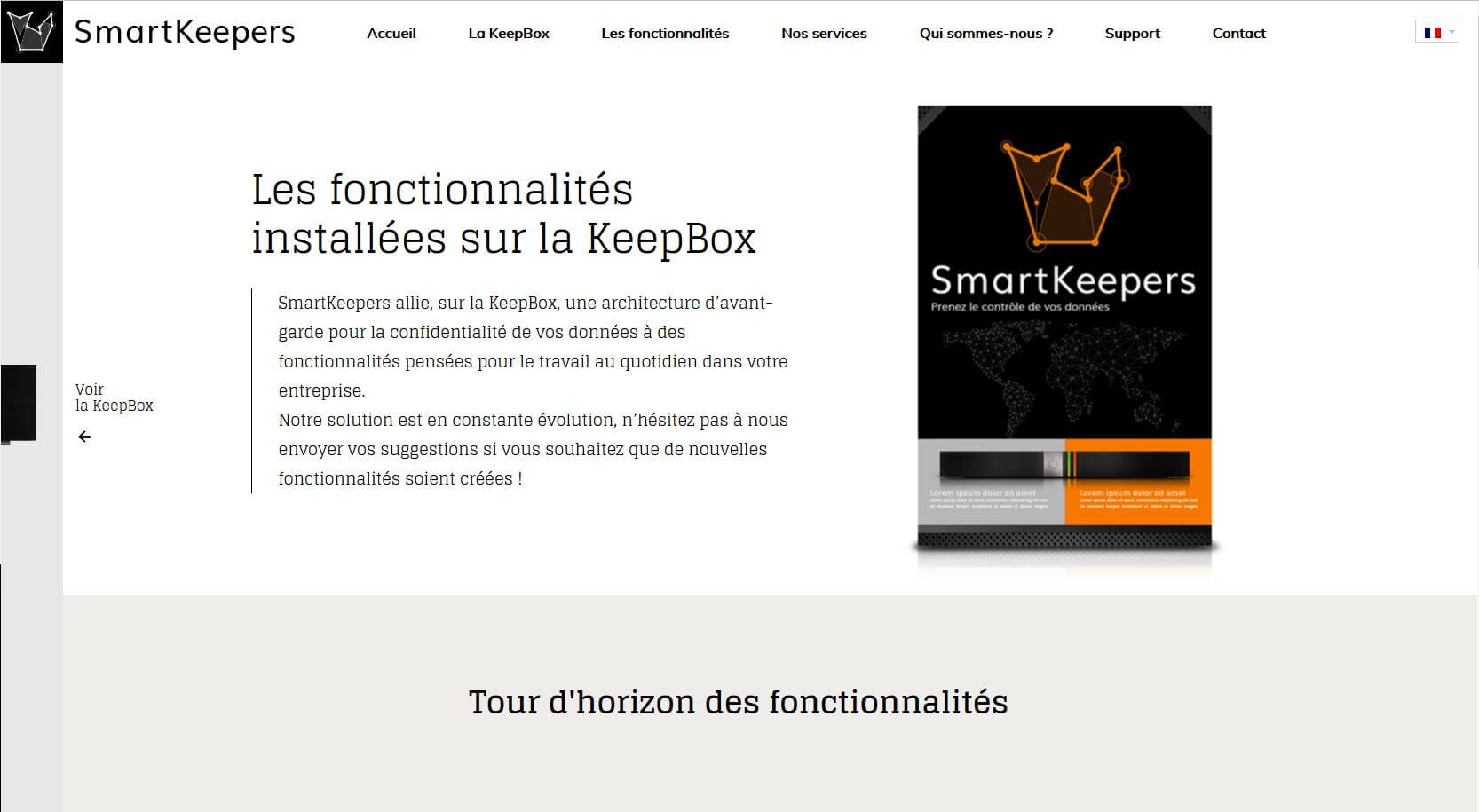 smartkeepers fonctionnalités
